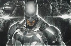 Batman - aquarel pastels