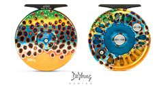 Abel Fly Reel with Limited Edition Derek DeYoung Brown Trout Finish