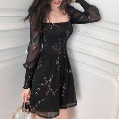 Korean Fashion Dress, Ulzzang Fashion, Kpop Fashion Outfits, Girls Fashion Clothes, Mode Outfits, Girly Outfits, Cute Casual Outfits, Pretty Outfits, Pretty Dresses