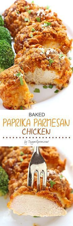 Baked Paprika Parmesan Chicken is one of those everyone-should-know-how-to-make recipes. It's easy and comes together quickly. In fact, it's hard to mess up! #chickenfoodrecipes