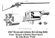 Dean and Adams Revolving Rifle.                From:  1867  Manual of British Rural Sports By John Henry Walsh.                                                                       Via       Google Books        (PD-100)                    suzilove.com