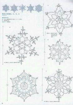 The snowflakes crochet pattern is a good guideline to knit the crochet products. There are some crochet patterns that can be chosen for knitting. Every crochet pattern is like a magical pattern and motif. Free Crochet Snowflake Patterns, Crochet Stars, Crochet Snowflakes, Doily Patterns, Thread Crochet, Crochet Doilies, Crochet Flowers, Crochet Patterns, Crochet Angels
