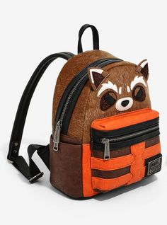 Rocket Raccoon Mini Backpack from Loungefly Moda Disney, Marvel Backpack, Cute Mini Backpacks, Marvel Fashion, Moda Pop, Types Of Handbags, Marvel Clothes, Bags For Teens, Rocket Raccoon