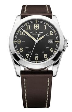 Victorinox Swiss Army® 'Infantry' Leather Strap Watch, 40mm available at #Nordstrom
