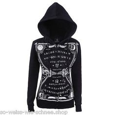 Restyle-Ouija-Hoodie-Mond-Jacket-Pocket-Moon-Kapuze-Punk-Gothic-Witchy-Pullover