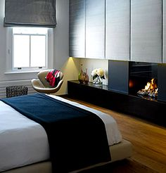 Fire Place in the bedroom yes!