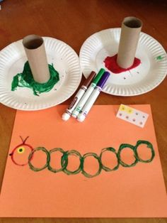 Toddlers and kids love these super easy Caterpillar Crafts! These kids crafts go great with The Very Hungry Caterpillar children's book. Toddlers and kids love these super easy Caterpillar Crafts! These kids crafts go great with Daycare Crafts, Kids Crafts, Easy Crafts For Toddlers, Arts And Crafts For Kids Toddlers, Daycare Ideas, Kids Diy, Chenille Affamée, Hungry Caterpillar Craft, Toddler Art