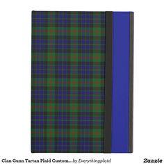 Clan Gunn Tartan Plaid Custom iPad Case