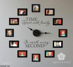 family photo clocks