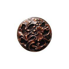 Antique Copper Florid Leaves Knob