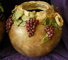 new Gourd sculpted grapes