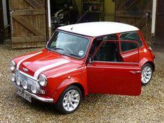 Classic Mini Cooper. Vintage Mini Cooper. Classic car. British. Old mini.