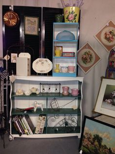 New inventory at booth B18, Judge Beal Antiques at Salvage Sisters in Franklin, Indiana.
