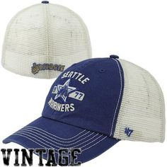 866b1ddceff 47 Brand Seattle Mariners Underhill Closer Flex Hat - Royal Blue Natural Seattle  Mariners