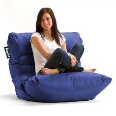 Big Joe Roma Bean Bag Chair Sapphire