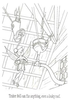 Tinkerbell Coloring Book Page For Kids