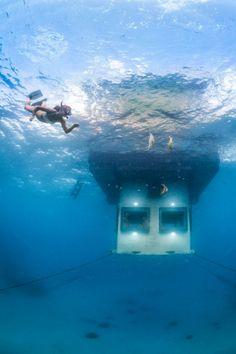 Traumhäuser - Unglaubliches Haus mit einem Schlafzimmer unter Wasser