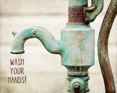 Wash Your Hands Childs Bathroom Decor Print by Lisa Russo on Fine Art America