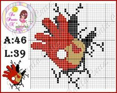 Dinha Ponto Cruz: Avengers cross stitch Graph Crochet, C2c Crochet, Crochet Art, Avengers, Marvel Logo, Marvel Comics, Man Quilt, Iron Man, Cross Stitch Patterns