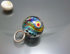 Lampwork pendant, glass bead done by Melanie Moertel