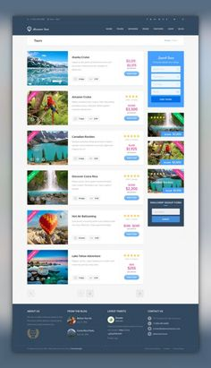 Buy Adventure Tours - WordPress Tour/Travel Theme by themedelight on ThemeForest. Adventure Tours is a Wordpress theme developed for travel agencies and tour operators of any size. It offers a lot of. Flat Web Design, Web Design Trends, Layout Design, Web Layout, Site Design, Portfolio Design, Web Portfolio, Travel Tours, Travel Themes