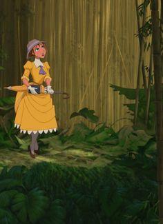 Jane in Tarzan's jungle