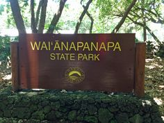 "Waiʻanapanapa State Park in Hana. Waiʻanapanapa means ""glistening fresh water"" in the Hawaiian language. Fresh Water, State Parks, Parka, Hawaiian, Language, In This Moment, Pictures, Languages, Parkas"