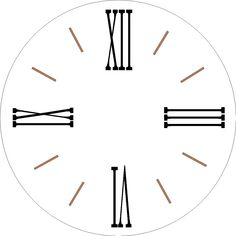 Farmhouse clock One Set 12 separate single use Roman Numeral Stencils and tick marks for a large wall clock the BOARD is NOT INCLUDED Clock Template, Face Template, Diy Clock, Clock Decor, Clock Face Printable, Face Stencils, Farmhouse Clocks, Free Printable Quotes, Quilling Designs