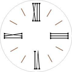 Clock Template, Face Template, 24 Inch Wall Clock, Clock Wall, Clock Face Printable, Face Stencils, Farmhouse Clocks, Diy Clock, Clock Decor