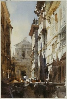 【水彩之光】 Watercolour....By Chien Chung Wei,18*27CM,2013