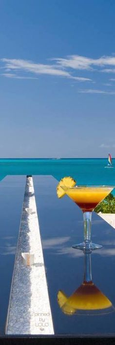 Rosamaria G Frangini | A Luxury Life | Grace Bay Turks and Caicos Infinity Bar | LOLO
