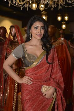 Shriya Saran in a JJ Valaya saree.