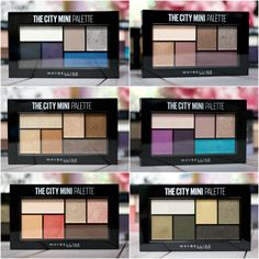 Maybelline The City Mini Palettes Review