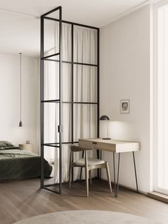 3 Small Space Apartment Interiors Under 50 Square Meters Square Feet) With Layout (Interior Design Ideas) Small Apartment Layout, Small Apartment Interior, Small Apartments, Small Spaces, Studio Apartments, Apartment Living, Bedroom With Ensuite, Home Design, Design Ideas
