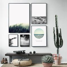 € 4,23 - 10,42 - Nordic Landscape Canvas Art Print Painting Poster, Giclee Print Wall Pictures For Home Decoration, Wall Decor BW005