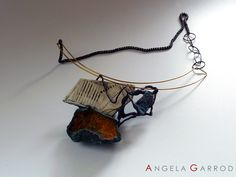 """ No Flowers Please "" Necklace ................................Polymer Clay, oxidised Silver, Brass and other materials."