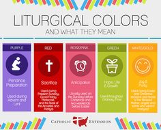 Why is the priest wearing that color? Learn more about the meaning of various colors during the liturgical year.
