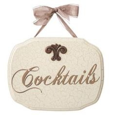 Finish 'Cocktails' Wall Plaques