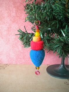 Needle Felted Wool Christmas Ornament