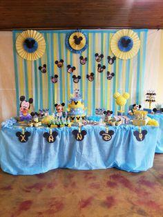Linda festa que nossa leitora Patty fez com o Tema Mickey Baby usando o kit do blog!