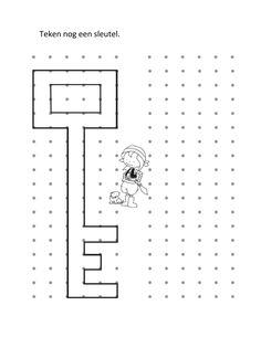 Teken nog een sleutel van de schatkist. Pirate Activities, Ocean Activities, Autism Activities, Activities For Kids, Teacher Worksheets, Worksheets For Kids, Pirate Illustration, Symmetry Activities, Prewriting Skills
