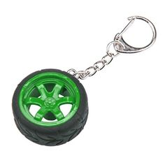 Iuhan Fashion New Popular Creative Car Auto Metal Mini Wheel Rim Tyre Key Chain Keyring Green -- To view further for this item, visit the image link.(It is Amazon affiliate link) #florida