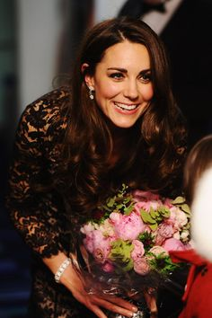pink peonies for Kate at at the War Horse London première