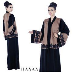 Mocha Lace Open Abaya