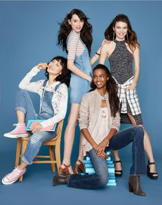 It's back to school time again! Macy's is hosting Back-to-School shopping events… The New School, New School Year, Old School Fashion, Kids Fashion, Campaign Fashion, School Looks, Back To School Shopping, School Photos, Photoshoot Inspiration