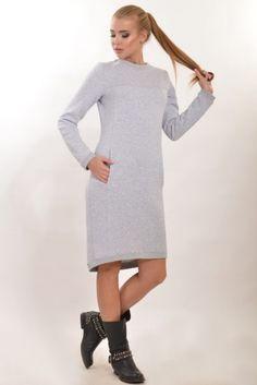 ecfcc296760 819 грн - Удлиненное спортивное платье из плотного трикотажа (Ck 62727) -  купить в интернет-магазине одежды VOUS