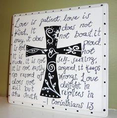 1 Corinthians wooden cross