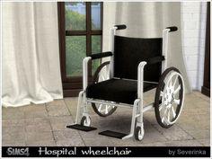 Hospital wheelchair at Sims by Severinka via Sims 4 Updates
