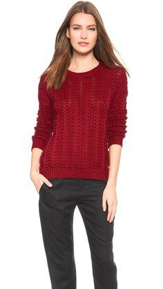 NWT VINCE 100% Cotton Mercerized Textured Sweater, Red, Medium, $395 | eBay
