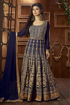 Buy Party Wear Designer Anarkali Suits With Pretty Patterns For Mod Lady Bridal Anarkali Suits, Anarkali Dress, Long Anarkali, Black Anarkali, Sari Dress, Bridal Lehenga, Abaya Fashion, Indian Fashion, Fashion Dresses
